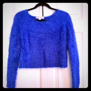 Adorable Dizzy Blue Crop Top